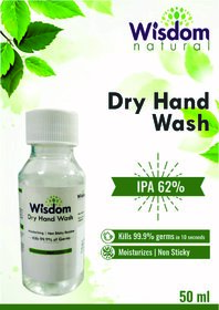 Wisdom Dry Hand Wash / Handsanitizer - 50 ml (Pack of 4)