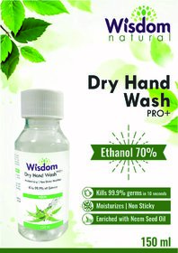 Wisdom Dry Hand Wash / Handsanitizer Enriched with Neem Seed Oil- 150 ml (Pack of 2)