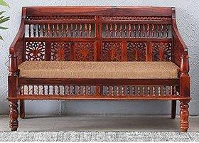 Shilpi Handmade Sheesham Wooden Two Seater Sofa