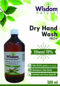 Wisdom Dry Hand Wash / Handsanitizer Enriched with Neem Seed Oil- 500 ml