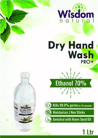 Wisdom Dry Hand Wash / Handsanitizer Enriched with Neem Seed Oil- 1 Litre
