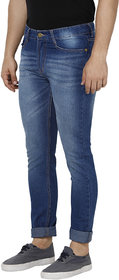 Urbano Fashion Men's Blue Slim Fit Washed Jeans Stretchable