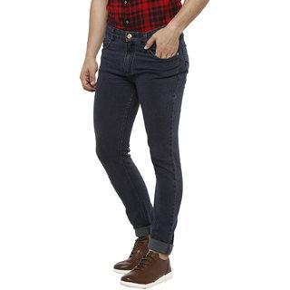Urbano Fashion Men's Dark Grey Slim Fit Denim Jeans Stretchable