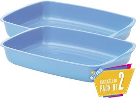 Savic Kitten Litter/Toilet Training Tray, 15 inch, Assorted Colours (Pack of 2)