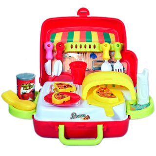 Chocozone Ultimate Kid Chef Bring Along Kitchen Cooking Suitcase Set Pretend Toys for Girls  Boys (26 Pieces)