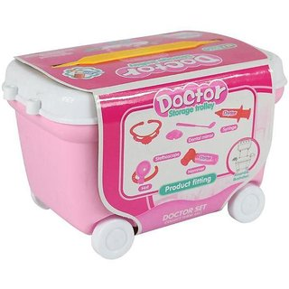 Chocozone Small Doctor Play Cart Doctor Set Toy for 3 Years Old Boys  Girls