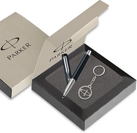 Parker Vector Standard Black Body With Free Parker Key Chain Roller Ball Pen