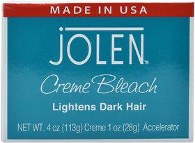 Jolen Creme Bleach, Lightens Dark Hair - 113g (4oz)