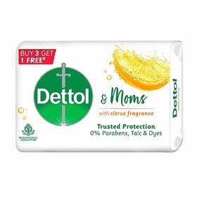 Dettol Soap Citrus, 125 g  (Buy 3 Get 1 Free)