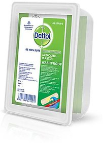 Dettol Box of Medicated Plaster Wash Proof  100pcs