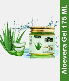 Indus Valley Bio Organic Pure Aloe Vera Gel for Pimples, Acne And Hair Loss 175 ML
