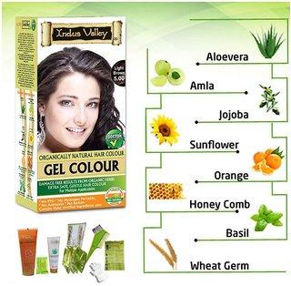 Indus Valley Hair Fibers Light Brown 5.0 220 ml