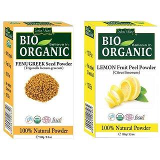 Indus Valley Lemon Fruit Powder  Fenugreek Powder For Hair  Skin Treatment
