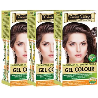 Indus Valley Hair Fibers Copper Mahogany 5.40 220 mL Pack of 3