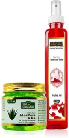 Indus valley 100 Natural Aloe Vera Gel And Natural Rose Water For Body Wash 425 g Pack of 2