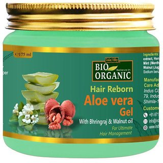 Indus Valley Bio Organic Hair Reborn Aloe Vera Gel with Walnut Oil Gel 175 ml