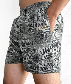 Crown printed boxer shorts for men
