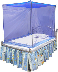 Homecute Single Bed Cotton Edge Traditional Mosquito Net 4X6 Ft