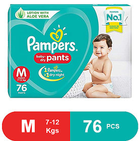 Pampers New Diaper Pants, Medium, 76 pcs