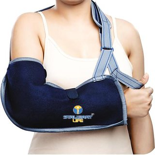 STALWART LIFE Adjustable Pouch Arm Sling - Blue color ( 90-100 CM )