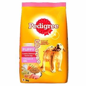 Pedigree Puppy Dry Dog Food, Chicken  Milk, (3 KG)