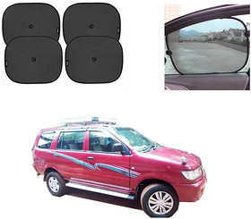 feelitson Car Window Sunshades with Vacuum Cups Black (Set of 4) for Tavera Old