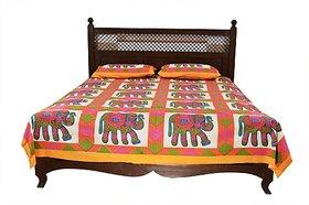 JABAMA 150 TC Cotton Double Animal Bedsheet (Pack of 1, Multicolor)