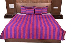 JABAMA Silk Double Bed Cover (Purple, Pink)