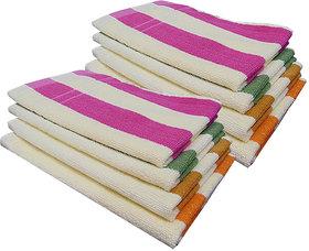 Akin MultiColor Cotton Hand Towels Set Of 8