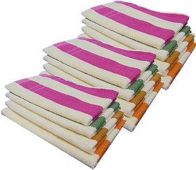 Akin MultiColor Cotton Hand Towels Set Of 12