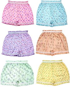 KIDBIRD Girls and Boys Cotton  Inner  Panty Bloomers Combo Pack of 6