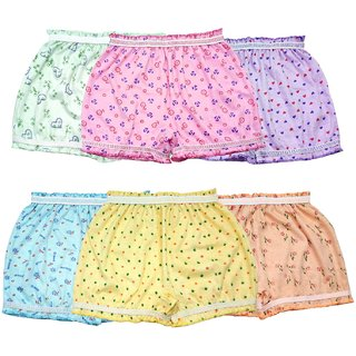 BEXZZOR Girls and Boys Cotton  Inner  Panty Bloomers Combo Pack of 6