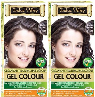 Indus Valley Organically Natural Gel Light Brown 5.0 - Twin Pack - Hair Color
