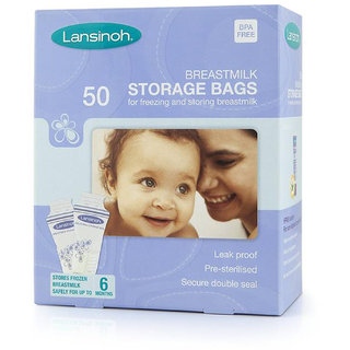 Lansinoh Breastmilk Storage Bags - 50Pk
