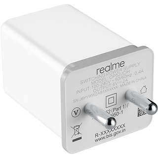 RYLEN Realme Mobile Charger Adaptor  White