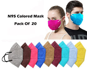Combo Of 20 Piece Mask Face Masks Unisex Anti Dust Anti Pollution 3 Filter