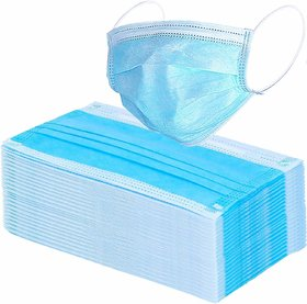 Neyssa Disposable 3 Ply Surgical Face Mask with Earloop, Great for Air Pollution Virus Mask ( Pack of 20 )