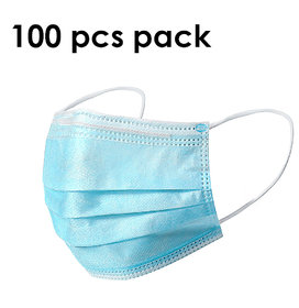 Svaar 3ply Disposable Mask Mouth Face Mask Dust-Proof Personal Protection (100 Pcs)