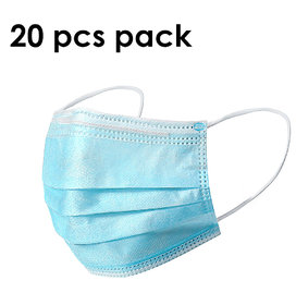 Svaar 3ply Disposable Mask Mouth Face Mask Dust-Proof Personal Protection (20 Pcs)