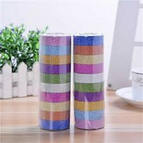 ARTSTREET Colourful Decorative Adhesive Glitter Tape (3M Assorted Color 20 Pieces) for Art Craft Purpose.