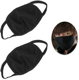 5pcs Anti Pollution Washable Reusable Protection Black Mask (Assorted Design) - Flumask