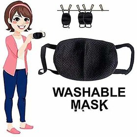 Anti Dust Proof PollutionMASK Cotton Anti-Pollution Face Mask for Bike, Ski, Cycling, Running, Hiking Pack of 12Pcs