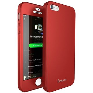GADGETWORLD Luxury 360 iPaky Case Cover for Iphone 5 -Red