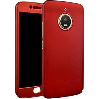 GADGETWORLD Luxury 360 iPaky Case Cover for Motorola Moto E4 Plus -Red