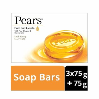 Pears Pure And Gentle Soap 3*75G+75G