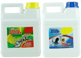 BNG DISH WASH LEMON FRESH 5 LTR WITH FREE GLASS CLEANER 5 LTR