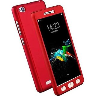 GADGETWORLD Luxury 360 iPaky Case Cover for Redmi 3S -Red