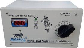 Rahul C-2000 a2 Digital Kva/8 Amp 90-260 Volt, Manual 8 Booster Autocut Digital Voltage Stabilizer