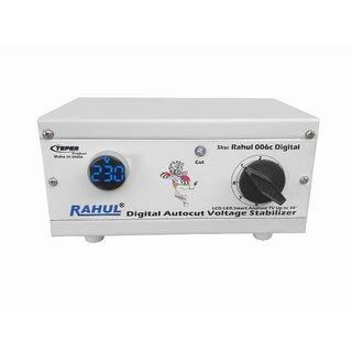Rahul 006c Digital 300 VA 140 280 Volt Manual 8 Booster Autocut Copper Digital Voltage Stabilizer