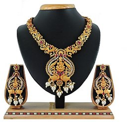 Vatsalya Creation Alloy Jewel Set (Red)
